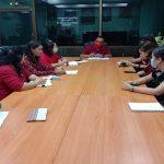 ประชุมการเตรียมความพร้อม การดำเนินงานการประกันคุณภาพของสถานศึกษาอาชีวศึกษาเเบบออนไลน์