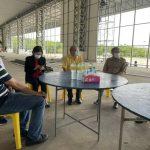 การประชุม เรื่องการสร้างโรงพยาบาลสนาม ขนาด 700 เตียง ณ องค์การบริหารส่งนจังหวัดจันทบุรี